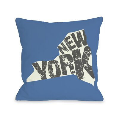 New York State Silo Throw Pillow Size: 18 H x 18 W