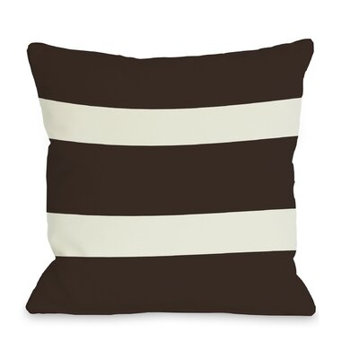 Helen Stripe Throw Pillow Size: 16 H x 16 W, Color: Chocolate