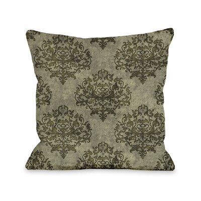 Haunted Filigree Throw Pillow Color: Tan