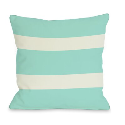 Helen Stripe Throw Pillow Size: 16 H x 16 W, Color: Aqua