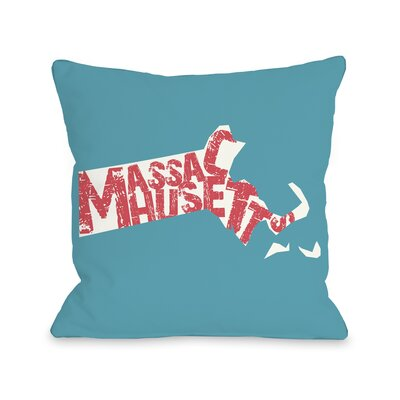Massachusetts State Throw Pillow