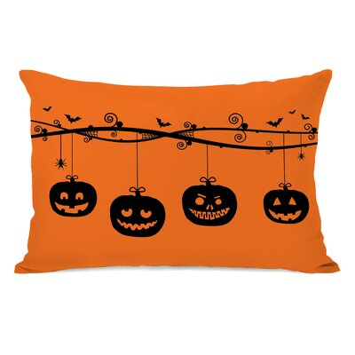 Pumpkins On A Branch Lumbar Pillow