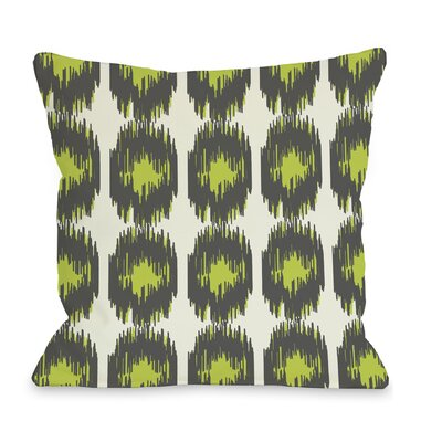 Payton Ikat Dots Throw Pillow Size: 16 H x 16 W, Color: Gray Green