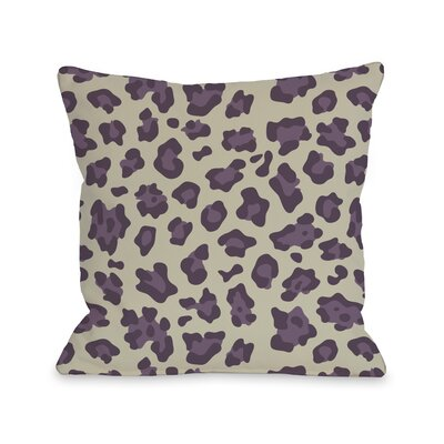 Gabriella Cheetah Throw Pillow Size: 26 H x 26 W, Color: Blackberry