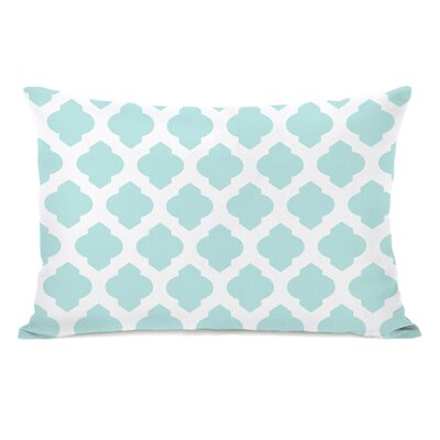 All Over Moroccan Lumbar Pillow Color: Fair Aqua