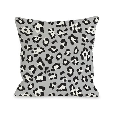 Gabriella Cheetah Throw Pillow Color: Black White, Size: 26 H x 26 W