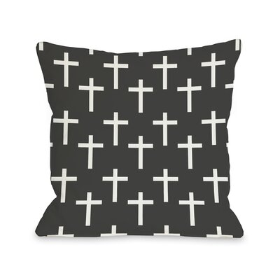 All Over Cross Print Throw Pillow