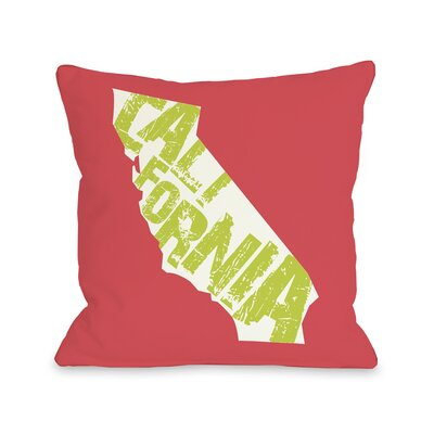 California State Type Throw Pillow
