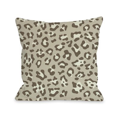 Gabriella Cheetah Throw Pillow Size: 18 H x 18 W, Color: Natural