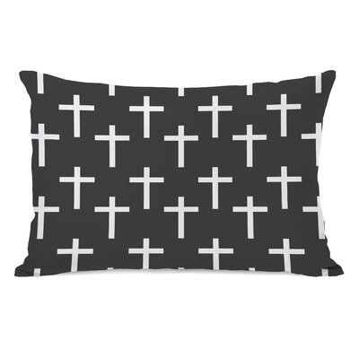 All Over Cross Print Lumbar Pillow