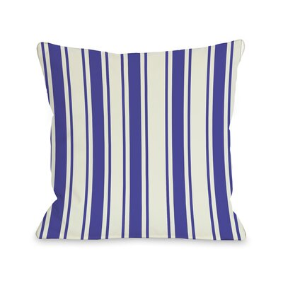 Winning Stripes Throw Pillow Color: Purple, Size: 18 X 18