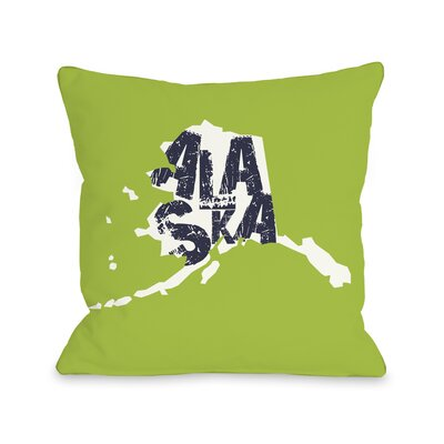 Alaska State Type Throw Pillow