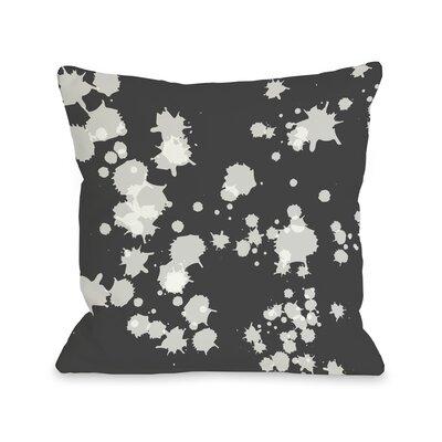Eva Splatter Throw Pillow Color: Gray White