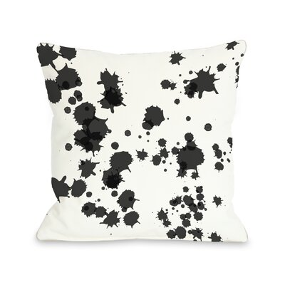 Eva Splatter Throw Pillow Color: White Black