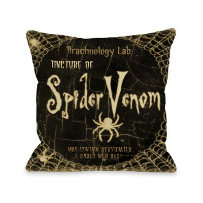 Spider Venom Throw Pillow