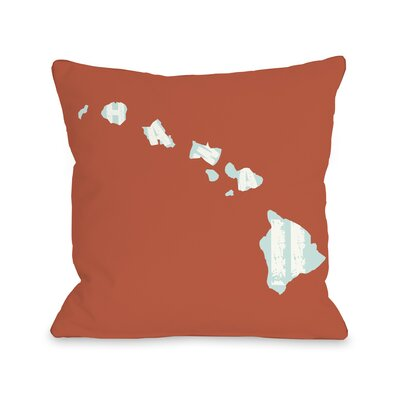 Hawaii State Throw Pillow