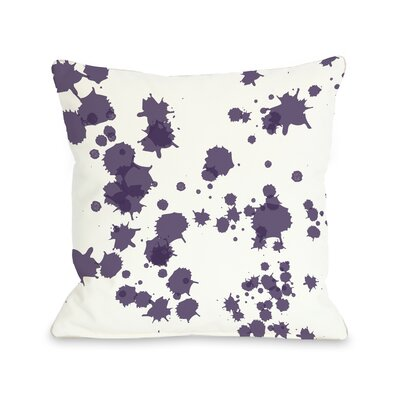 Eva Splatter Throw Pillow Color: White Purple