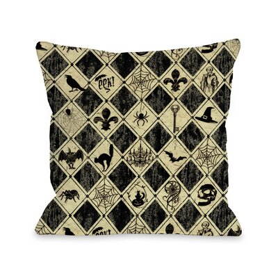 Spooky Diamonds Throw Pillow