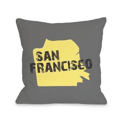 San Francisco City Silhouette Throw Pillow