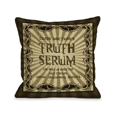 Truth Serum Throw Pillow