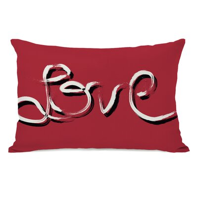 Hand Painted Love Lumbar Pillow