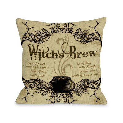 Witchs Brew Throw Pillow Size: 18 x 18