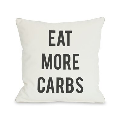Carbs Vs Kale Reversible Throw Pillow Size: 16 H x 16 W