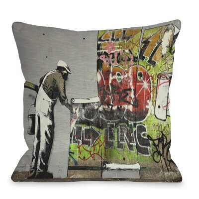 Graffiti Wallpaper Throw Pillow