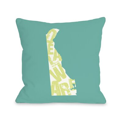 Delaware State Type Throw Pillow