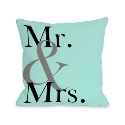 Mr & Mrs Bold Throw Pillow