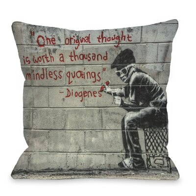 One Original Thought Throw Pillow Size: 18 H x 18 W