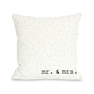 Mr & Mrs Dots Throw Pillow
