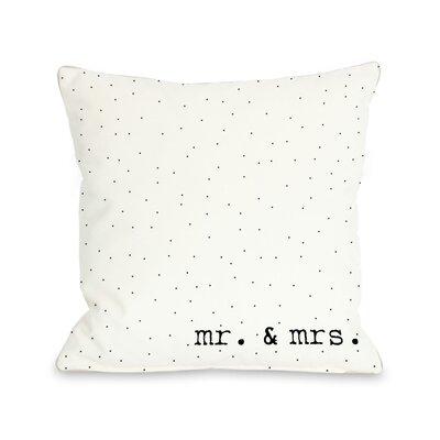 Mr & Mrs Dots Throw Pillow