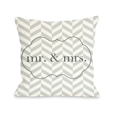 Mr & Mrs Frame Throw Pillow