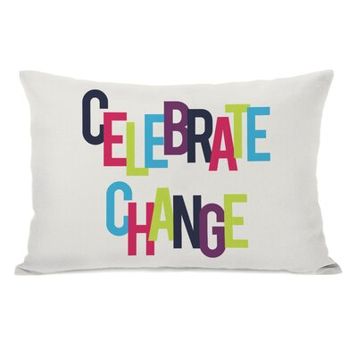 Celebrate Change Lumbar Pillow Color: Ivory/Multi