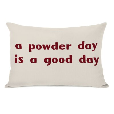 A Powder Day Lumbar Pillow