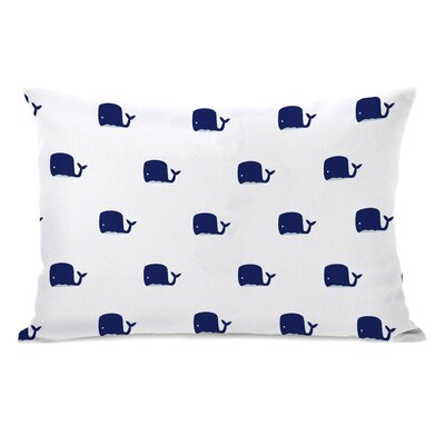 All Over Whale Stripes Reversible Lumbar Pillow