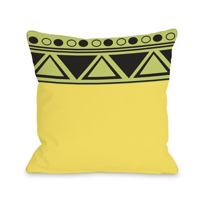 Aziz Aztec Top Triangles Throw Pillow