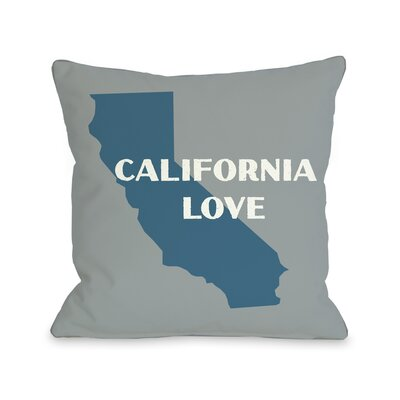 California Love Throw Pillow Size: 18 H x 18 W