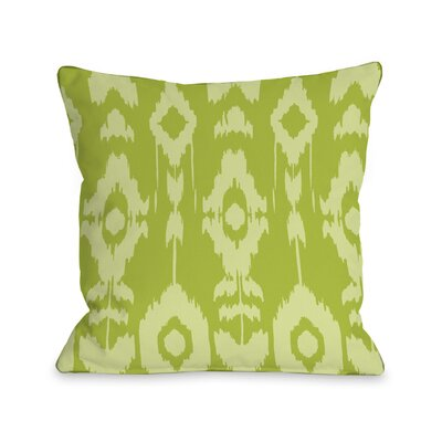 Forever Ikat Throw Pillow Color: Lime, Size: 18 H x 18 W
