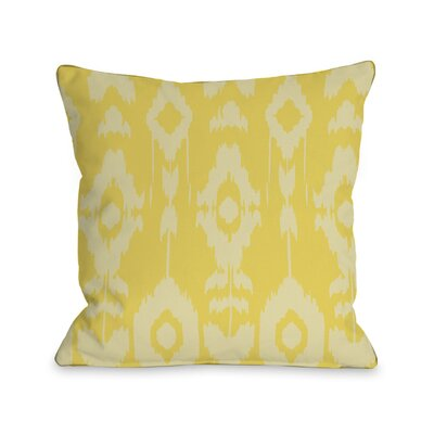 Forever Ikat Throw Pillow Size: 16 H x 16 W, Color: Lemon Zest
