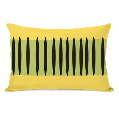 Kalia Aztec Stripes Lumbar Pillow Color: Green