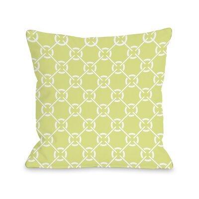 Ceciles Circles Throw Pillow Size: 16 H x 16 W, Color: Sunny Lime