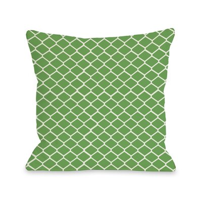 Linked Diamonds Throw Pillow Color: Green
