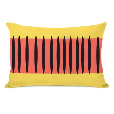 Kalia Aztec Stripes Lumbar Pillow Color: Orange