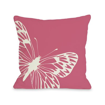 Butterfly Throw Pillow Size: 18 H x 18 W