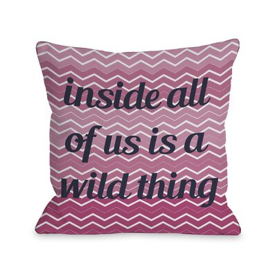 A Wild Thing Chevron Throw Pillow