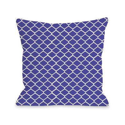Linked Diamonds Throw Pillow Color: Purple
