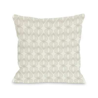 Mod Drops Geometric Throw Pillow Size: 20 H x 20 W