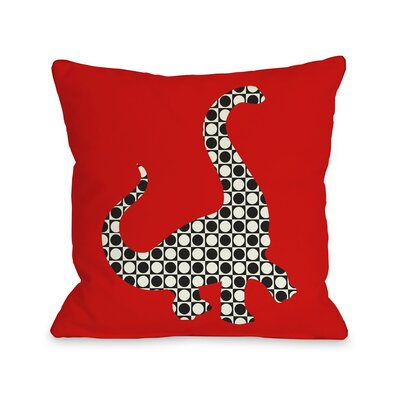 Camasaurus Throw Pillow Size: 18 H x 18 W